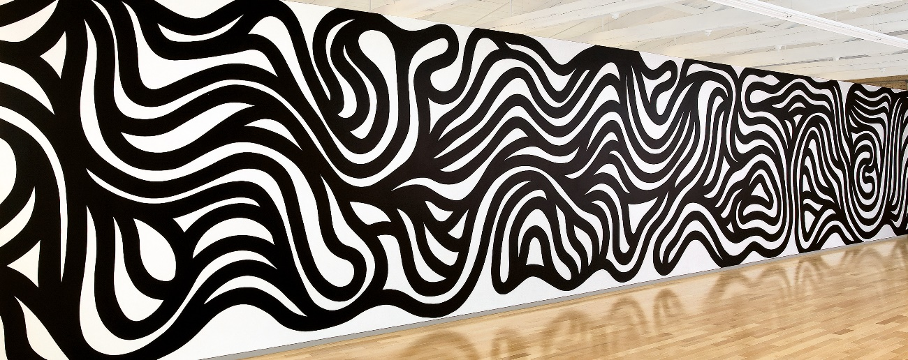 Wall Drawing #999, Parallel Curves