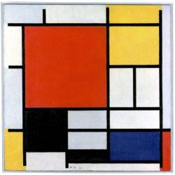 Composició en vermell, groc, blau i negre